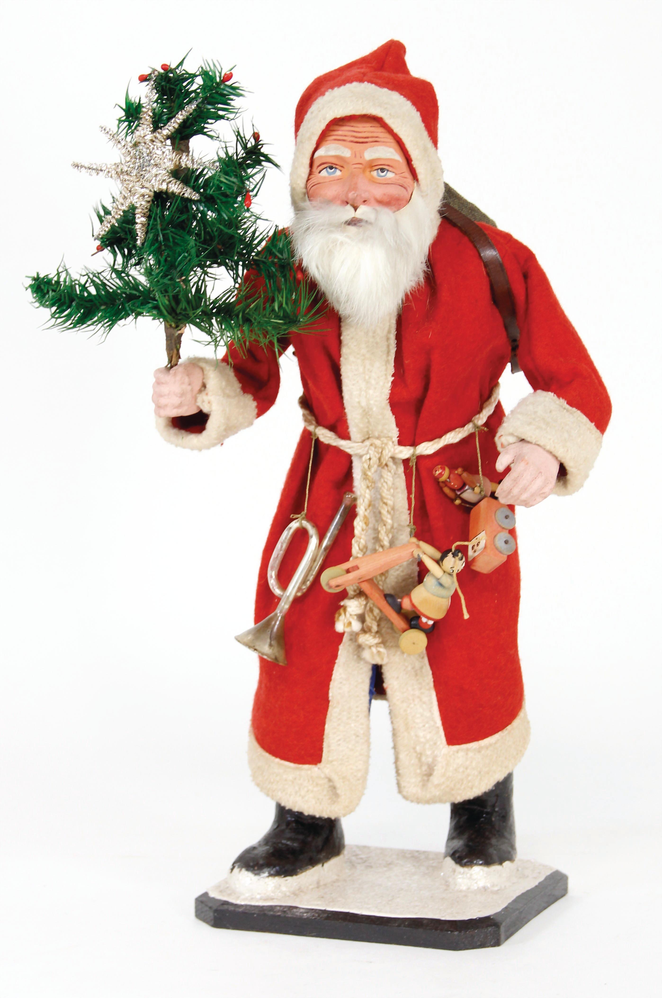Santa 30cm Tall Paper Papier Mache Father Christmas