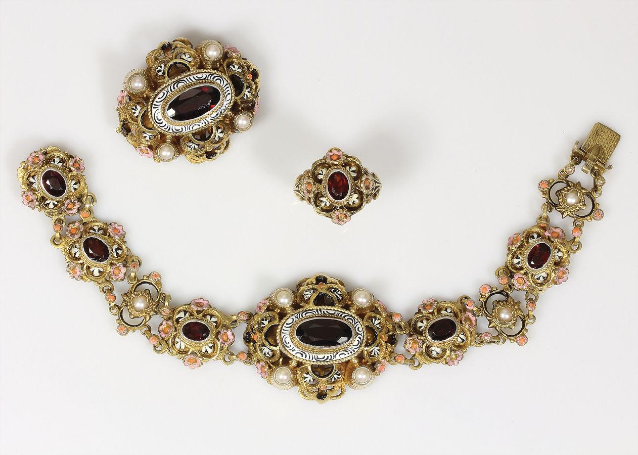 925 Silber vergoldet schwarz facettiert Feines Armband mit Spinell 19-20,5 cm